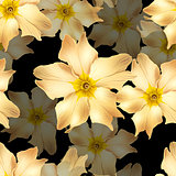 gold flowers seamless