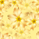 yellow flowers seamless
