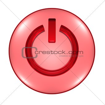 Power button 3D illustration