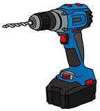 Blue cordless drill