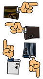 Funny hands cartoons