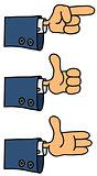 Funny hands cartoons