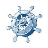 Ship wheel. Marine Tattoo.