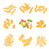 Classic Italian Pasta Types Collection