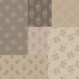 Mosaic Collection Of Seamless Coffee Themed Patterns