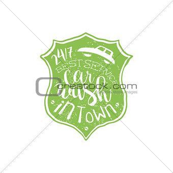 Carwash Green Vintage Stamp
