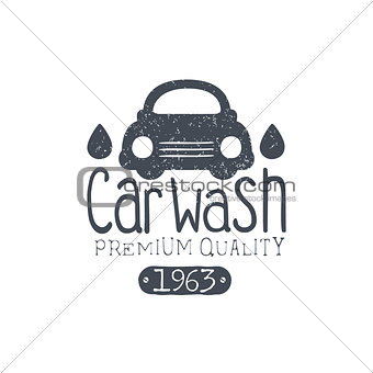 Carwash Vintage Stamp