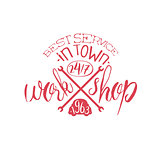 Best Workshop Red Vintage Stamp