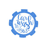 Carwash Blue Vintage Stamp
