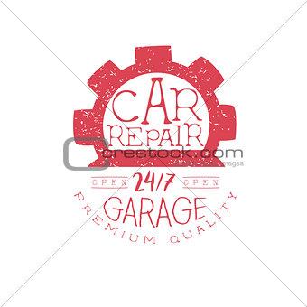 Car Repair Red Vintage Stamp