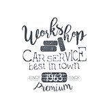 Car Service Vintage Stamp
