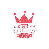 Sewing Cotton Vintage Emblem