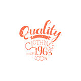 Hundred Percent Quality Clothing Vintage Emblem