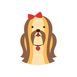 Shih-Tzu Dog Breed Primitive Cartoon Illustration