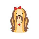 Shih-Tzu Dog Breed Primitive Cartoon Illustration