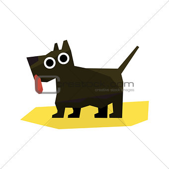 Small Black Terrier Dog