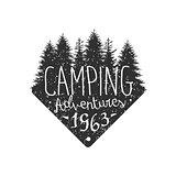 Camping Adventures Vintage Emblem