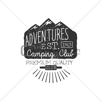 Camping Club Vintage Emblem