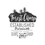 Premium Forest Camp Vintage Emblem