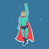 Fly Hero Man Vector illustration