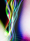dinamyc flow, stylized  waves, vector