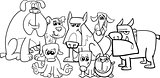 dogs group coloring book