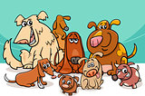 funny dogs group cartoon
