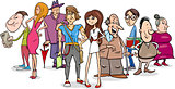 people group cartoon illustration