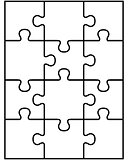 white puzzle, vector
