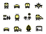 glossy transport icons