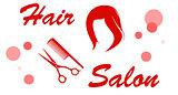 red hair salon signboard