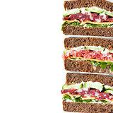 Salami rye bead sandwiches.
