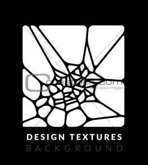 Abstact voronoi design vector background