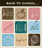 Back to school hand drawn poster.