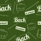 Back to school seamless pattern.