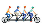 Cycling Tandem Bicycle