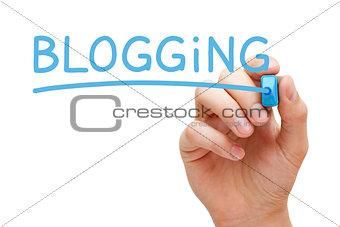 Blogging Blue Marker