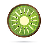 Kiwi Icon Isolated on White.