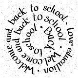 Welcome and Back to school lettering card.