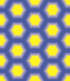 blue honeycomb on a yellow background