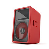 Big red loudspeaker