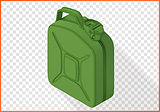 jerrycan vector 3d flat isometric