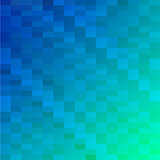 Blue triangle mosaic background