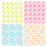 Collection of four simple geometric vector seamless patterns