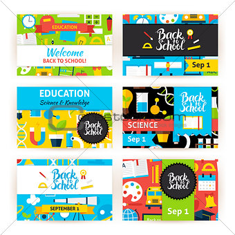 Back to School Greeting Invitation Set