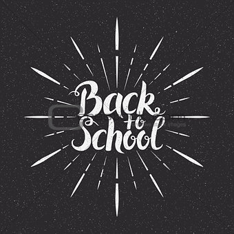 Back to School Hand Written Lettering