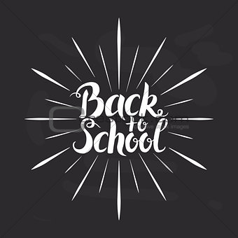 Back to School Lettering over Chalkboard