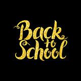 Back to School Lettering over Black