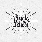 Back to School Vector Handwritten Lettering