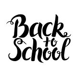 Black Back to School Lettering over White